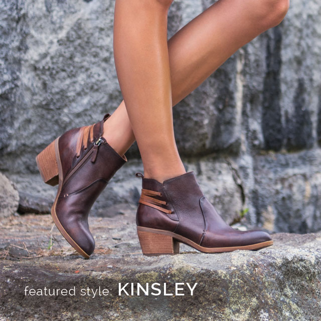 Featured style: Kinsley in luggage brown full-grain leather