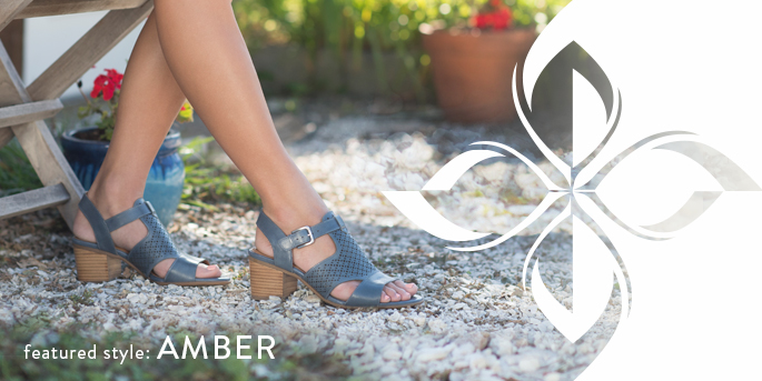 Featured Style: Amber heel, shown in chambray
